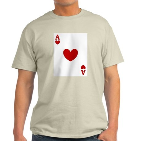 Ace of hearts card player Light T-Shirt
