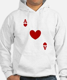 Ace of hearts card player Hoodie