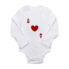 Ace of hearts card player Long Sleeve Infant Bodys