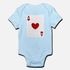 Ace of hearts card player Infant Bodysuit