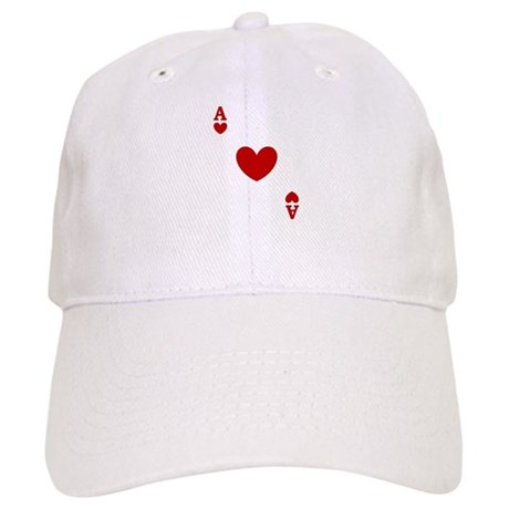 Ace of hearts card player Cap