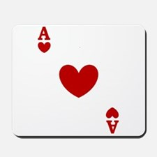 Ace of hearts card player Mousepad