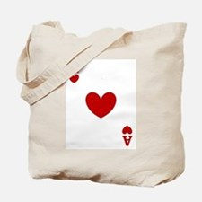 Ace of hearts card player Tote Bag