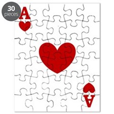 Ace of hearts card player Puzzle