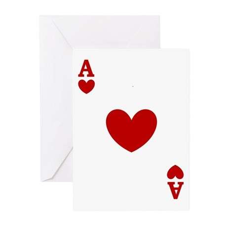 Ace of hearts card player Greeting Cards (Pk of 10