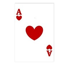 Ace of hearts card player Postcards (Package of 8)