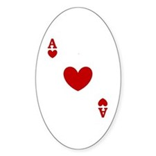 Ace of hearts card player Decal