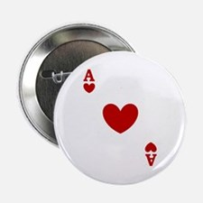 """Ace of hearts card player 2.25"""" Button"""