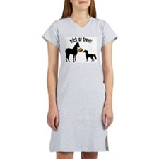 Trick or Treat horses Women's Pink Nightshirt