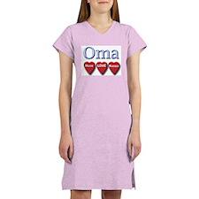 OMA hugs and kisses Women's Nightshirt