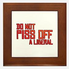 Angry Liberal Framed Tile