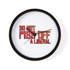 Angry Liberal Wall Clock