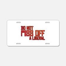 Angry Liberal Aluminum License Plate