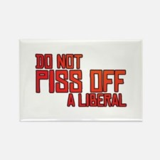 Angry Liberal Rectangle Magnet