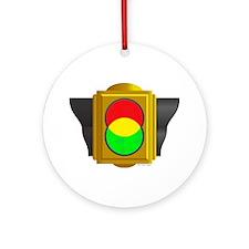 Ven Traffic Signal Ornament (Round)