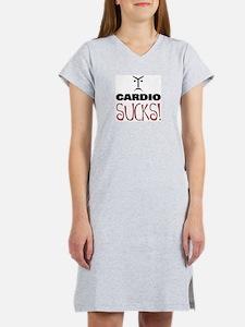 CARDIO SUCKS! Women's Pink Nightshirt