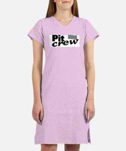 Pit Crew Racing Flag Women's Nightshirt