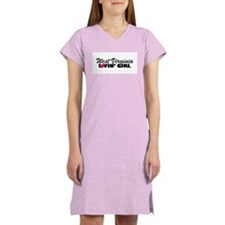 West Virginia Loving girl Women's Pink Nightshirt