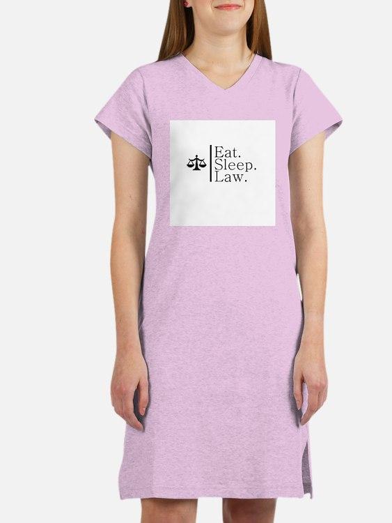 Eat. Sleep. Law. (Scales) Women's Nightshirt
