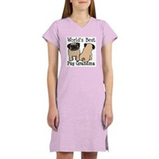 World's Best Pug Grandma Women's Nightshirt