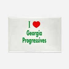 I Love Georgia Progressives Rectangle Magnet