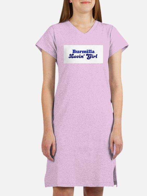 Burmilla Cat Loving Girl Women's Pink Nightshirt