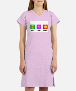 PEACE LOVE TENNIS Women's Nightshirt