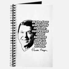 Ronald Reagan Quote Wars Defense Journal