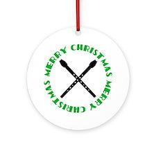 Recorder Music Christmas Ornament