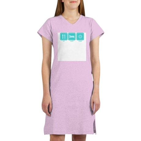 Eat, Sleep, Stamp Women's Pink Nightshirt