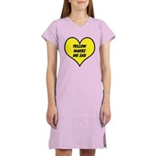 Yellow Makes Me Sad Women's Nightshirt