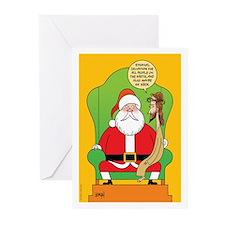 Santa & Jesus Greeting Cards (Pk of 20)