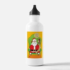 Santa & Jesus Water Bottle