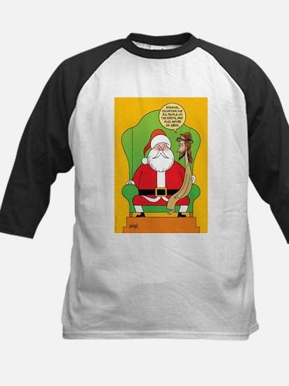 Santa & Jesus Kids Baseball Jersey