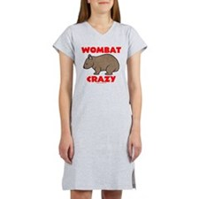 Wombat Crazy Women's Nightshirt
