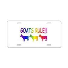 Goats Rule Aluminum License Plate