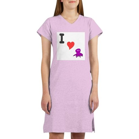 I (heart) octopus Women's Nightshirt