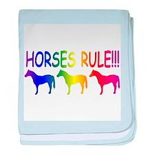 Horses Rule baby blanket