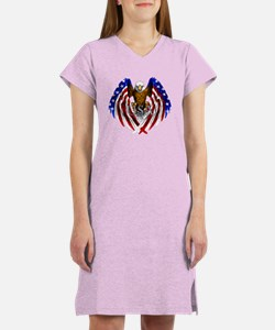 Flag Eagle Women's Nightshirt