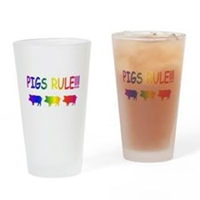 Pigs Rule Drinking Glass