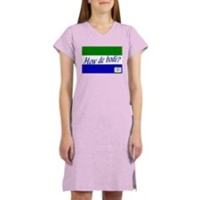 Cute Sierra leone Women's Nightshirt