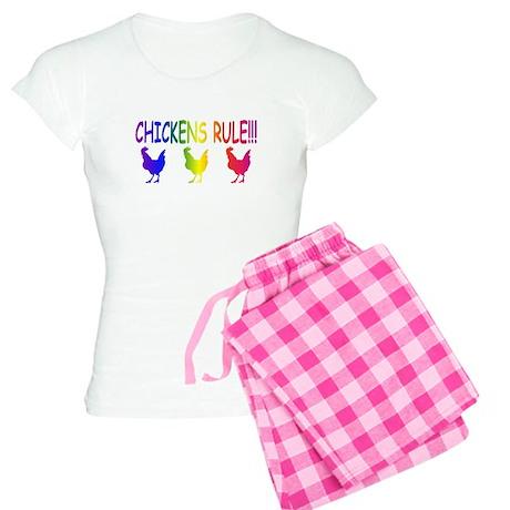 Chickens Rule Women's Light Pajamas