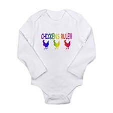 Chickens Rule Long Sleeve Infant Bodysuit