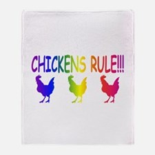 Chickens Rule Throw Blanket