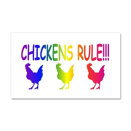 Chickens Rule Car Magnet 20 x 12