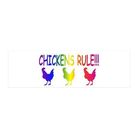 Chickens Rule 42x14 Wall Peel