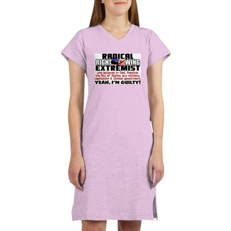 """""""Right Wing Extremist"""" Women's Color Nig"""