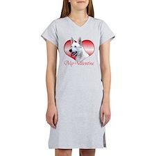 White Shep Valentine Women's Nightshirt