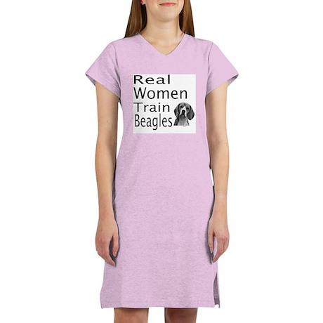 Real Women Train Beagles Women's Nightshirt