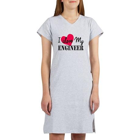 I Love My Engineer Women's Nightshirt